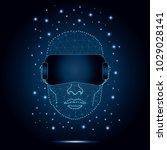 polygonal virtual reality... | Shutterstock .eps vector #1029028141
