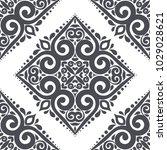 black and white ornamental...   Shutterstock .eps vector #1029028621