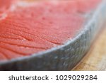fresh salmon fillet | Shutterstock . vector #1029029284