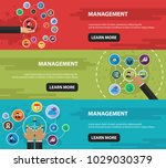 management flat icon concept.... | Shutterstock .eps vector #1029030379