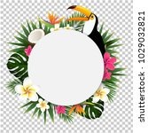 summer tropical banner with... | Shutterstock .eps vector #1029032821