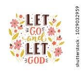 vector religions lettering  ... | Shutterstock .eps vector #1029032959