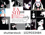 group portraits of fashion... | Shutterstock .eps vector #1029033484