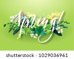 bright spring design with a... | Shutterstock .eps vector #1029036961