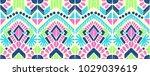 ikat geometric folklore... | Shutterstock .eps vector #1029039619
