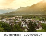 vaduz  liechtenstein top view.... | Shutterstock . vector #1029040807