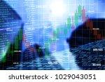 double exposure chart price... | Shutterstock . vector #1029043051