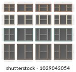 vector single hung non bar... | Shutterstock .eps vector #1029043054
