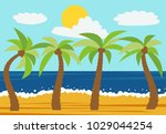 cartoon nature landscape with...   Shutterstock .eps vector #1029044254