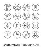 pictogram for touristic bus.... | Shutterstock .eps vector #1029044641