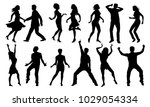black and white dancing... | Shutterstock .eps vector #1029054334