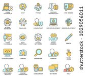 icons for communication ... | Shutterstock .eps vector #1029056011