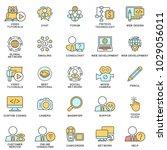 icons for communication ... | Shutterstock .eps vector #1029056011