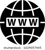 web icon  www icon vector art... | Shutterstock .eps vector #1029057445