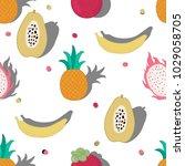 vector seamless pattern of... | Shutterstock .eps vector #1029058705