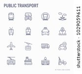 public transport thin line... | Shutterstock .eps vector #1029059611