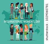 international women's day... | Shutterstock .eps vector #1029060781