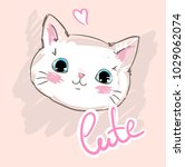 hand drawn cat vector... | Shutterstock .eps vector #1029062074