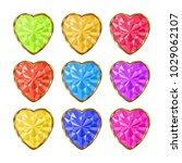 colored gemstones set in gold.... | Shutterstock .eps vector #1029062107