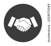 business handshake simple flat... | Shutterstock .eps vector #1029070369
