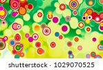 3d abstract green wavy... | Shutterstock . vector #1029070525