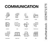 communication icon set | Shutterstock .eps vector #1029071575