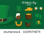 st.patrick's day signs and... | Shutterstock .eps vector #1029074875