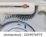 interior of the mechanics of an ... | Shutterstock . vector #1029076975