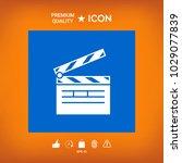 clapperboard symbol icon | Shutterstock .eps vector #1029077839