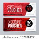 gift and discount voucher... | Shutterstock .eps vector #1029084991