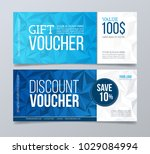 gift and discount voucher... | Shutterstock .eps vector #1029084994