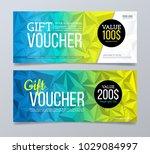 gift voucher design template.... | Shutterstock .eps vector #1029084997