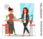 business partnership concept... | Shutterstock .eps vector #1029087784