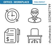 office   workplace icons....   Shutterstock .eps vector #1029087799
