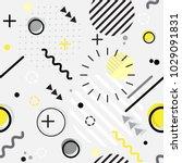 trendy seamless memphis style... | Shutterstock .eps vector #1029091831