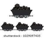 pile of charcoal coal mine... | Shutterstock .eps vector #1029097435