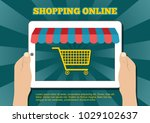 internet shopping concept. e... | Shutterstock .eps vector #1029102637