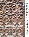 ancient engraved wooden  doors... | Shutterstock . vector #1029103291