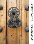 ancient engraved wooden  doors... | Shutterstock . vector #1029103315
