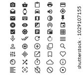 50 simple icons set | Shutterstock .eps vector #1029107155