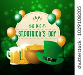 realistic st. patrick's day... | Shutterstock .eps vector #1029108205
