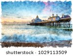 watercolour painting of the...   Shutterstock . vector #1029113509