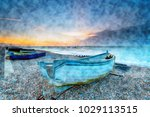 watercolour painting of boats...   Shutterstock . vector #1029113515