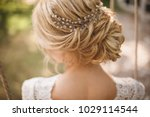 hair do with an elegant bridal... | Shutterstock . vector #1029114544
