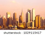 skyline of midtown manhattan ...   Shutterstock . vector #1029115417
