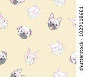 funny girlish seamless pattern...   Shutterstock .eps vector #1029118681