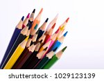 colorful pencils pattern... | Shutterstock . vector #1029123139