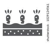 growing carrots glyph icon ... | Shutterstock .eps vector #1029124561