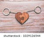 the beautiful trinket in shape... | Shutterstock . vector #1029126544
