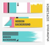 set of banners with modern... | Shutterstock .eps vector #1029128824